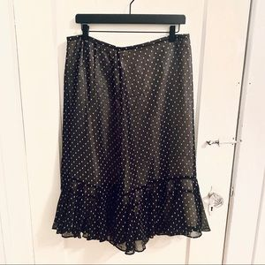 Ann Taylor Loft Swiss Dot Skirt Sz 12